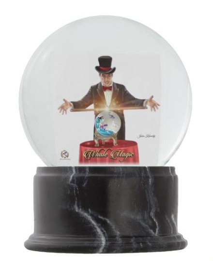 The Whale Magician Crystal Ball Globe With Lots Of Magic Snow