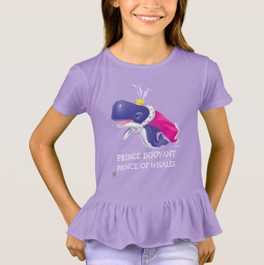Ruffle Blouse for Girls / Prince Buoyant, Prince of Whales