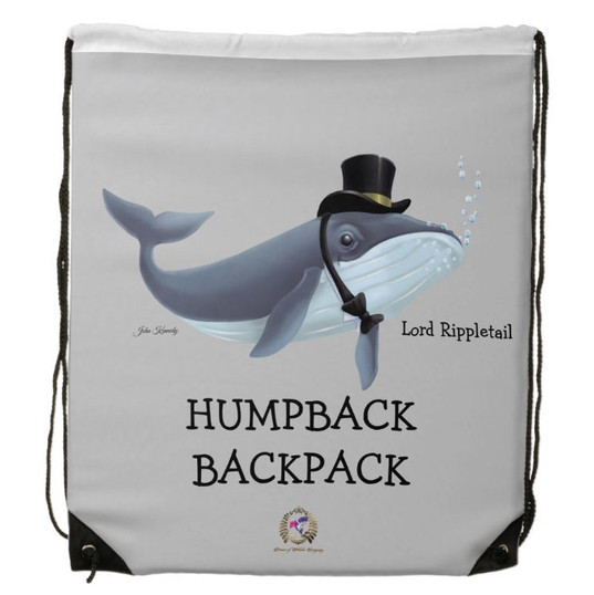 """Drawstring Backpack For Kids Lord Rippletail """"Humpback Backpack"""""""
