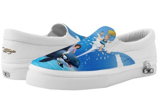 Fun Slip On Shoes for Kids & Adults / Prince Patches D'Orca & Friends