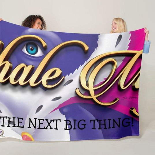 Fleece Blanket Large - Whale Magic The Next Big Thing
