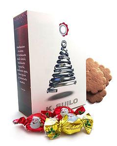 Personoitu lahjapakkaus yrityksen omalle ilmeelle.