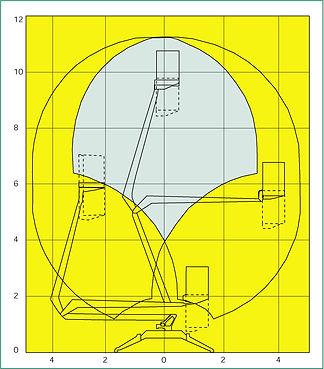 Teleskooppinostin kaavio 12m tekniset tiedo