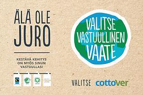 Valitse Cottover, kestävän kehityksen tuotteet liikelahjojemme joukosta.