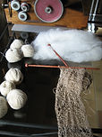 Balls of yarn ready for knitting