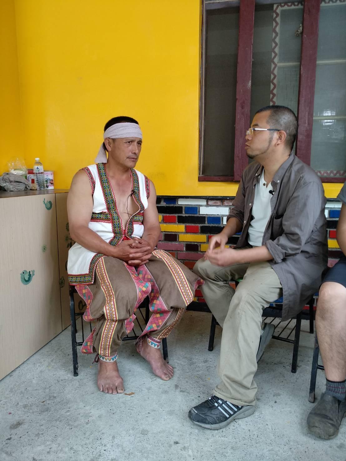 ブヌン族集落の酋長