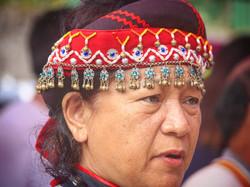 ブヌン女性の頭飾り