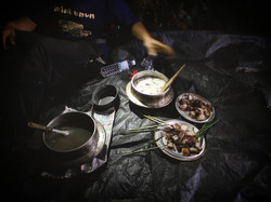 ジビエ野営食