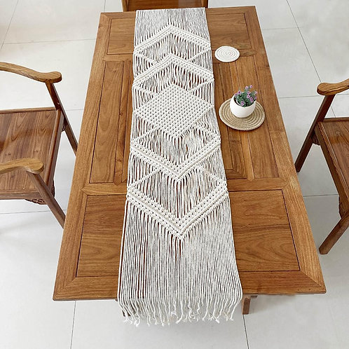 Decorative Table Runner With Tassels