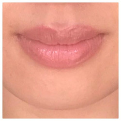 Client Selfie of her healed Lip Tattoo! This client had a natural blue tone to her lips but wanted t