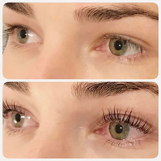 Amy Jean LASH ELEVATE  Lifts the lashes from the root for up to 8 weeks Lashes appear longer and eyes look wider. No need for false lashes or curlers! This relaxing treatment only takes an hour and includes tint  Photos are immediately after and clients are not wearing mascara