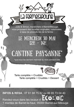 affiche cantine