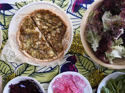 tarte courgette grillées