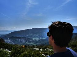 Barret vu de la falaise école