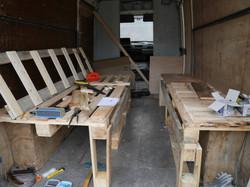 Aménagement intérieur du camion