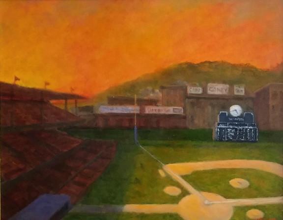 Reds Sky Crosley Field circa 1934  16 x 20