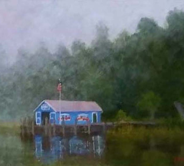 Blue Berry Boat House   16x20