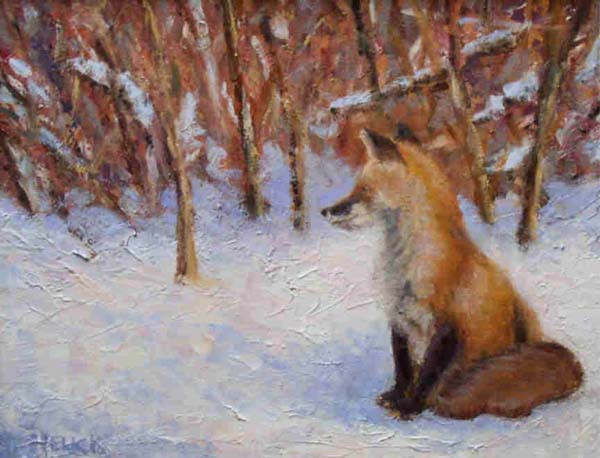 Basking In Winter's Warmth 11x14