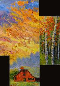 Earth Trees & Fire   28 x 22