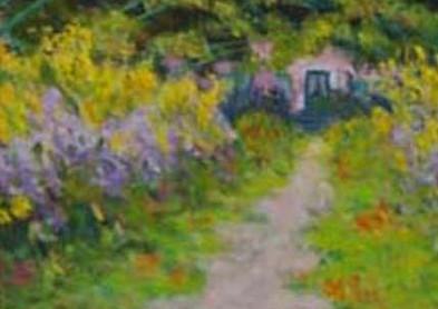 Monet's Garden Path  14x11