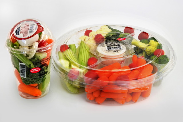 Vegetable cup and tray