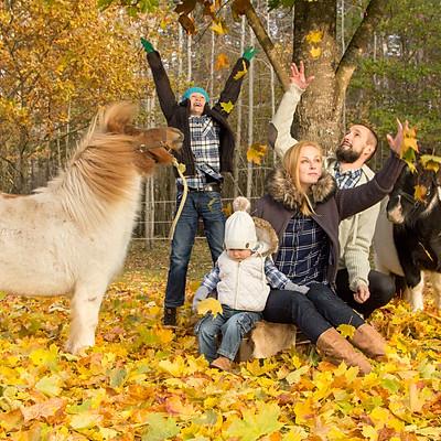 Kuldne sügis, ponid ja ilusad inimesed