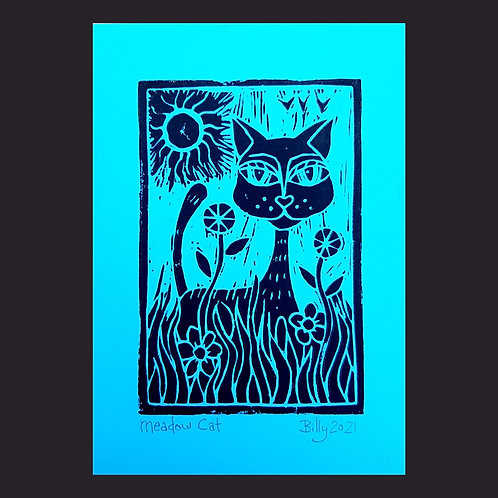 Meadow Cat Greeting Card