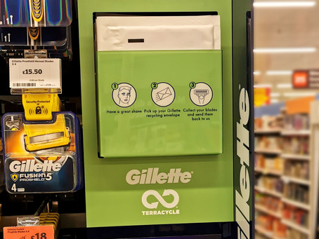 In-store spot : Gillette recycling shopper marketing campaign.