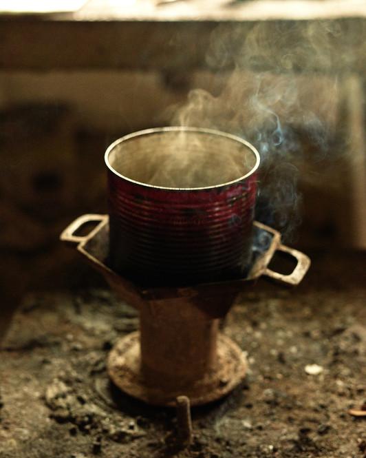 Batik wax heating