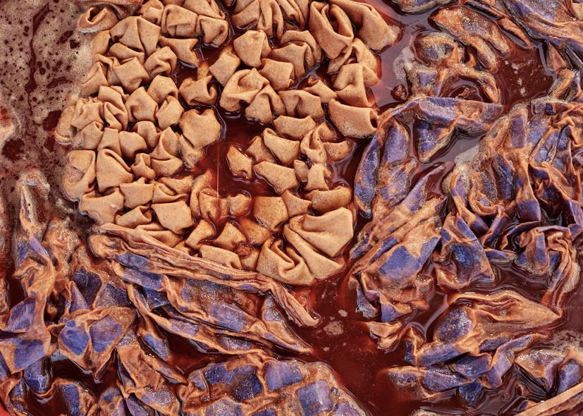 Adire alabare on cotton in kola nut bath