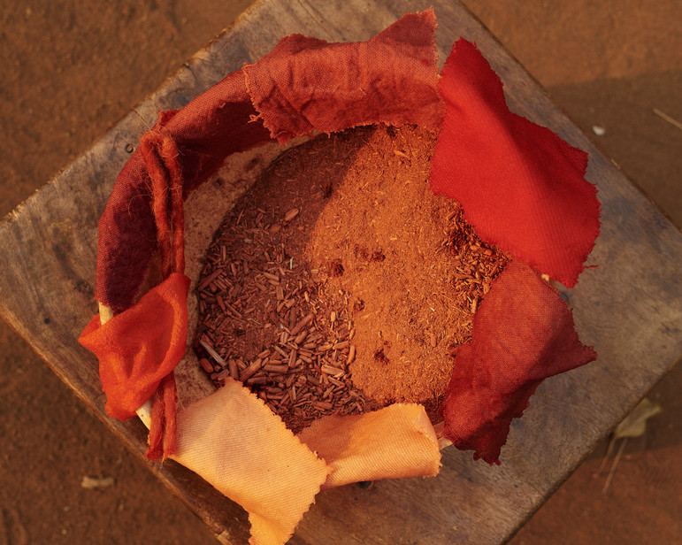 Madder root dyed textiles