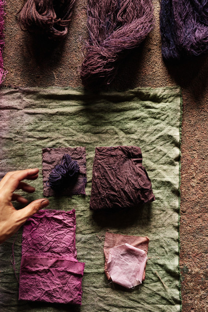 Naturally Dyed Fabric and Yarn