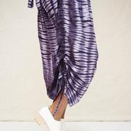 Mitchell Henderson sunflower seed and logwood adire silk dress