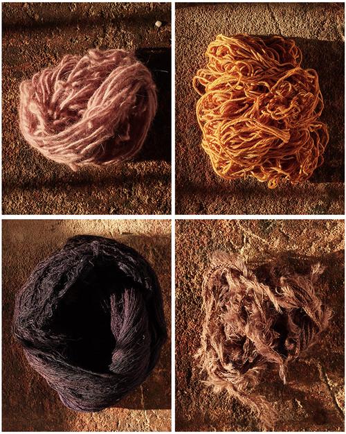 Cochineal, Marigold, and Logwood Yarn