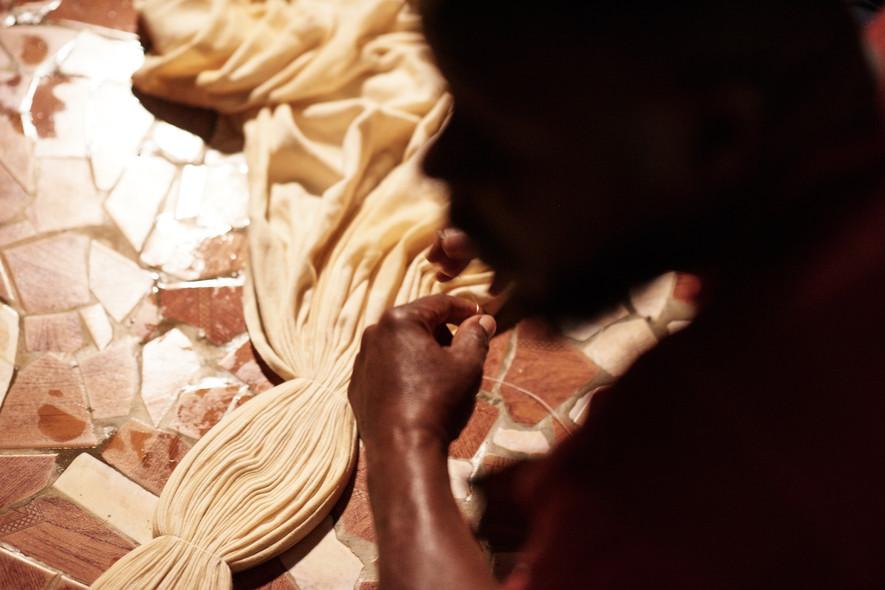 Bengali Camara Stitch Resist Dye Technique