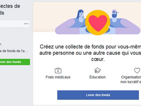 Dons Facebook à l'occasion de  votre anniversaire