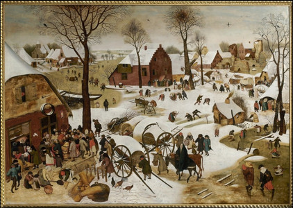 Museum MMB, Pieter Breugel de Jonge, Volkstelling in Bethlehem, voor 1600.