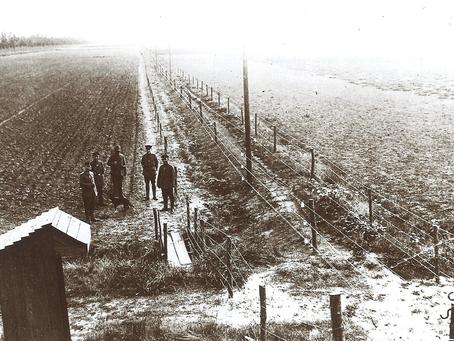 Spanning in de polder: de Duitse Dodendraad uit 1915.