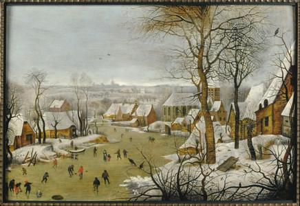Museum MMB, Pieter Bruegel de Jonge, Winterlandschap met vogelknip, 1602.