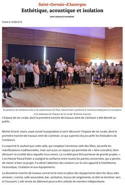Article La Montagne 18-08-2018