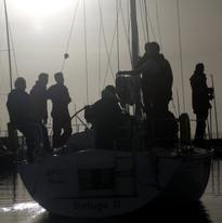 Team Poole Leaving Dock