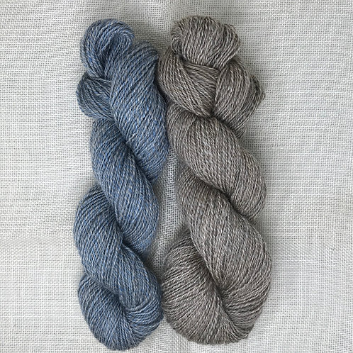 50% / 50% Blend of Wool & Mohair Hand Spun Yarn, Two Ply, Medium Weight