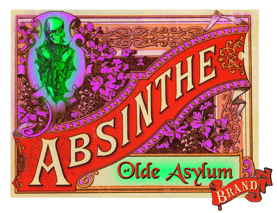 Olde Asylum Absinthe Label