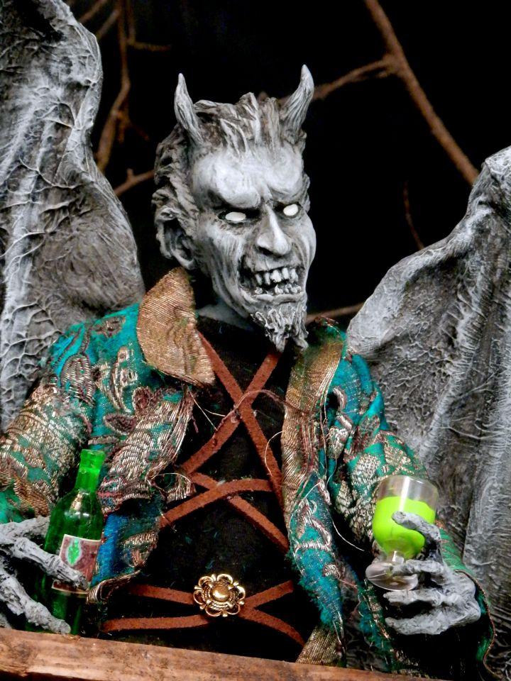 El Diablo Enjoying His Absinthe