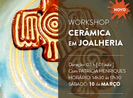 """Ateliê Labriola sedia workshop """"Cerâmica em Joalheria"""", com Patrícia Henriques"""