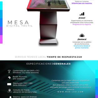 Mesa digital táctil
