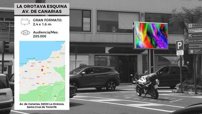Pantalla Led Publicidad La Orotava (Av Islas Canarias).