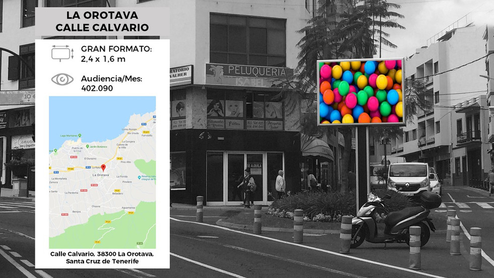 Pantalla Led Publicidad La Orotava (Calle Calvario)