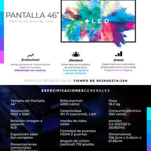 """Pantalla LCD 46"""" Profesional"""