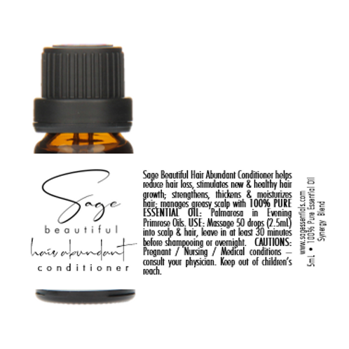 Hair Abundant Conditioner Essential Oil Synergy Blend
